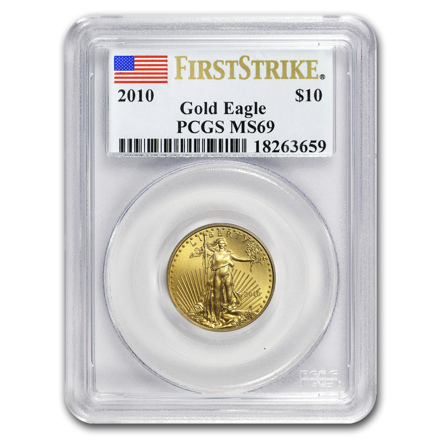 2010 1/4 oz Gold American Eagle MS-69 PCGS (FS)