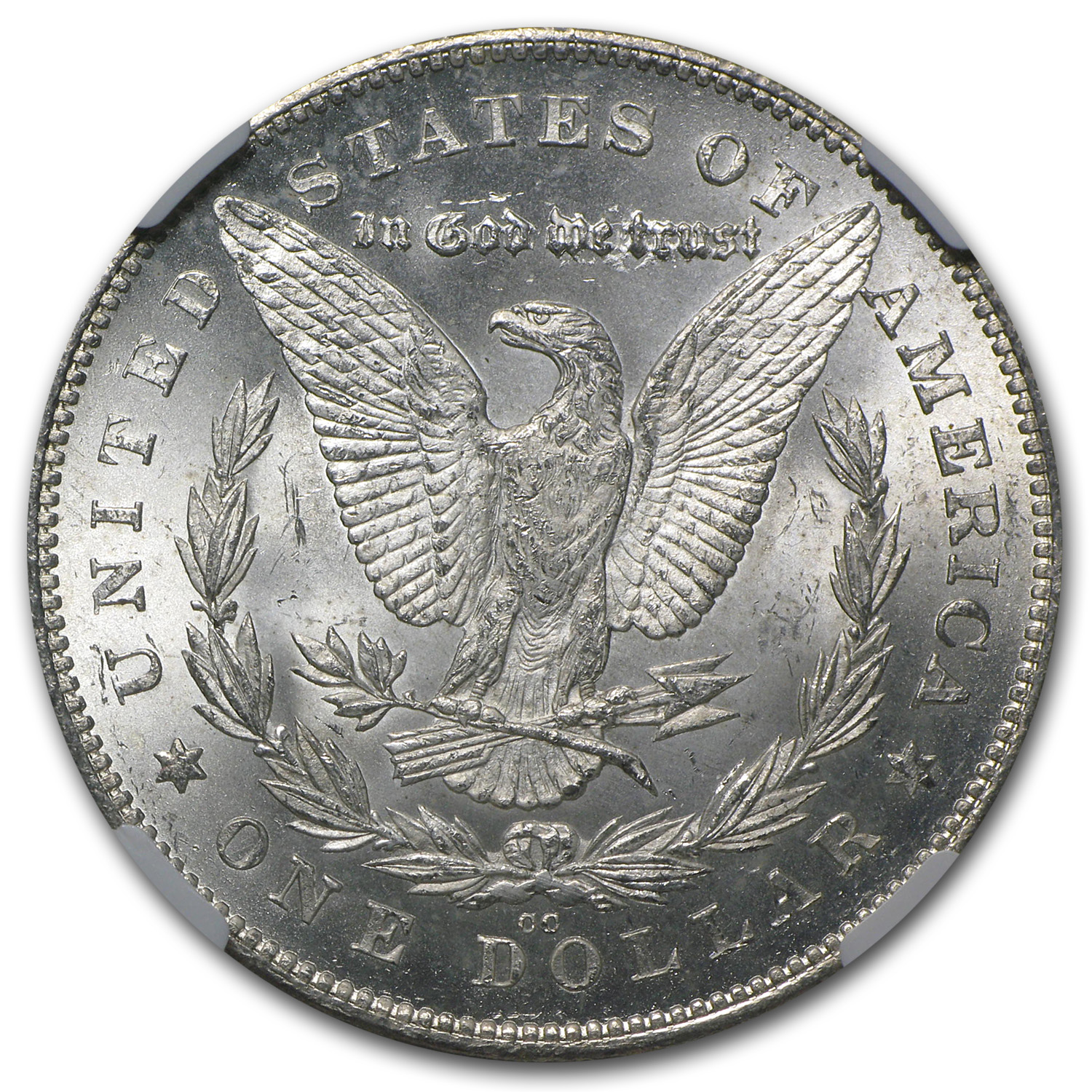 1880-CC Morgan Dollar - Reverse of 1878 MS-63 NGC
