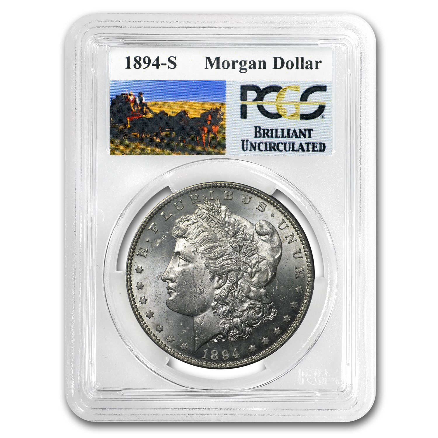 1894-S Brilliant Uncirculated PCGS Stage Coach Silver Dollars