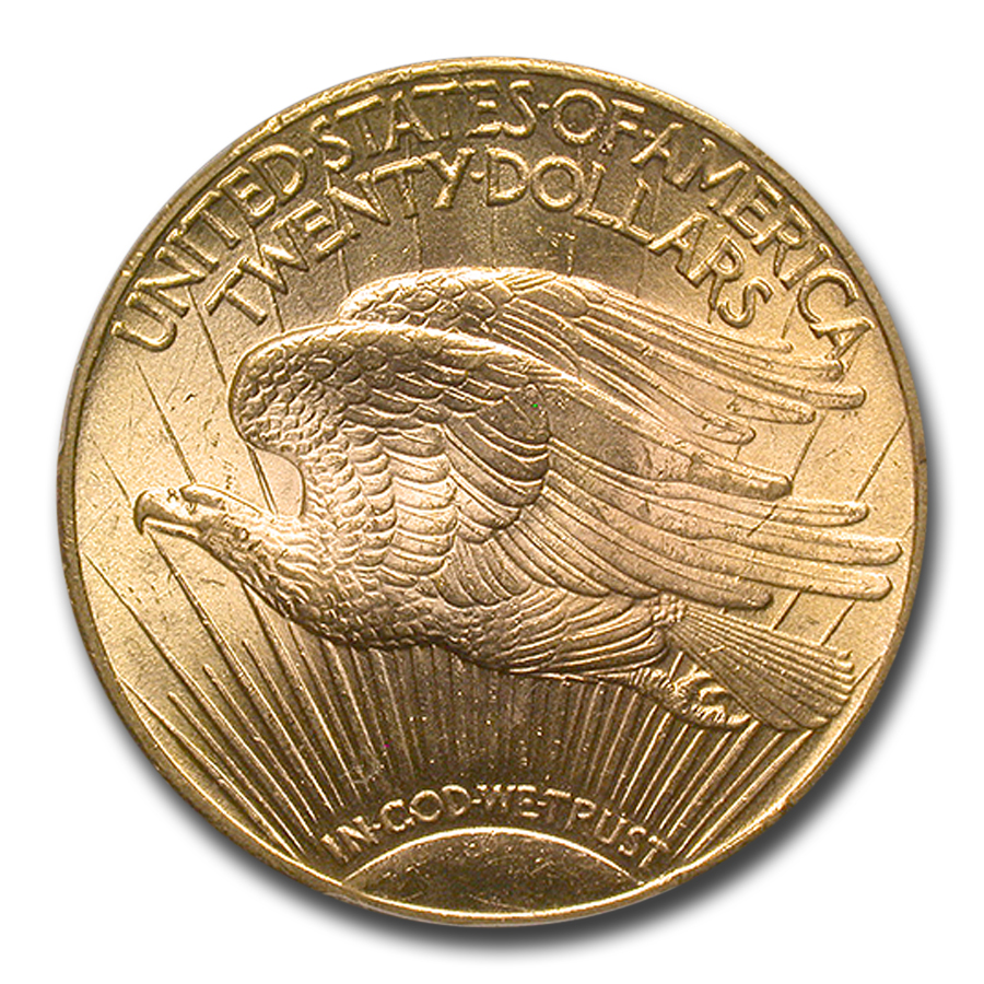 1925 $20 St. Gaudens Gold Double Eagle - MS-66 PCGS