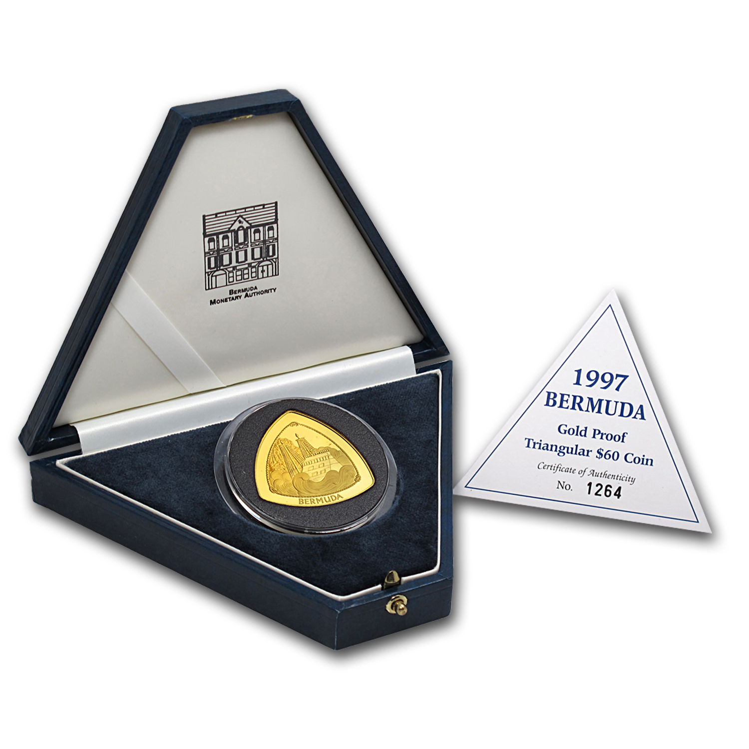 1997 Bermuda 1 oz Proof Gold $60 Triangle