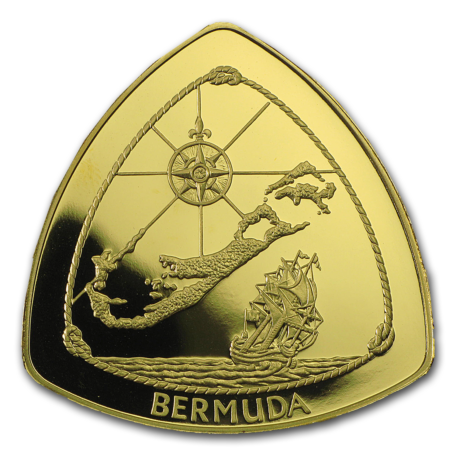 1996 Bermuda 1/2 oz Proof Gold $30 Triangle