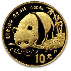1987 (1/10 oz Proof) Gold Chinese Pandas PF-68 UCAM NGC