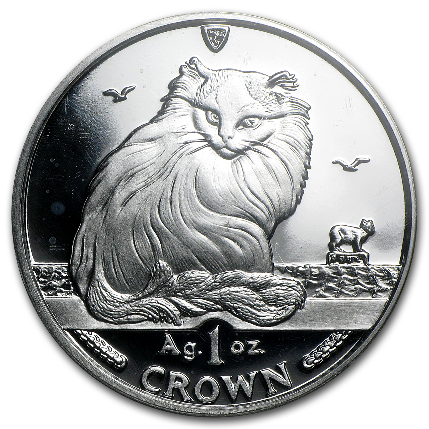 Isle of Man Silver 1 Crown Cats Proof (Random Dates)