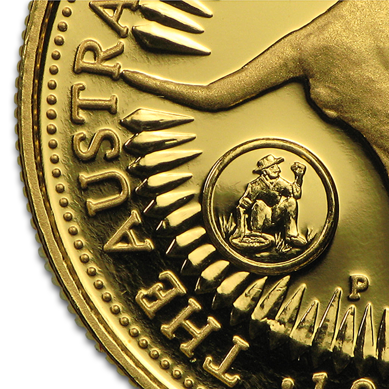 1996 Australia 4-Coin Gold Nugget Proof Set