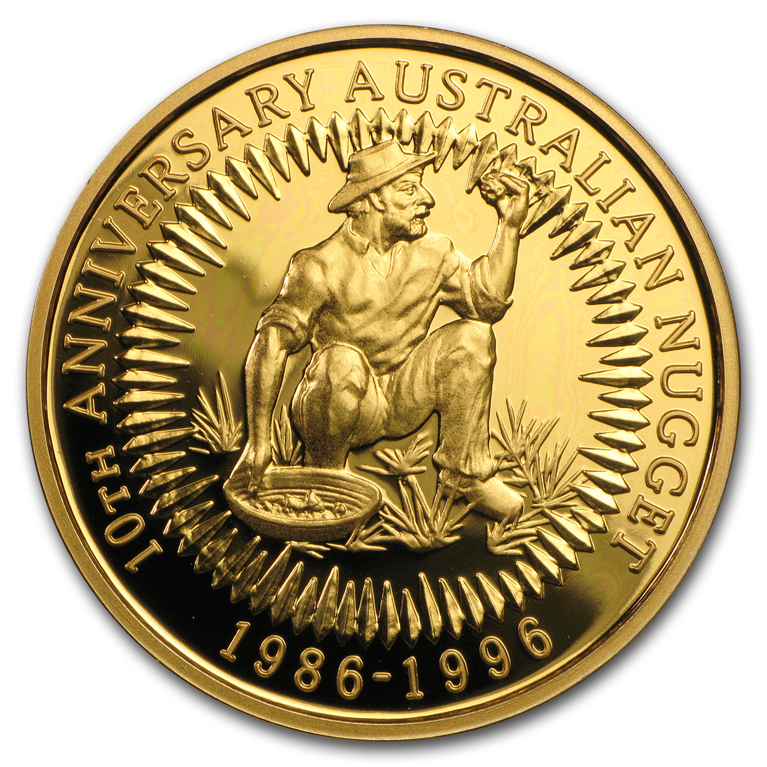 1996 4 coin Australian Proof Gold Nugget Set