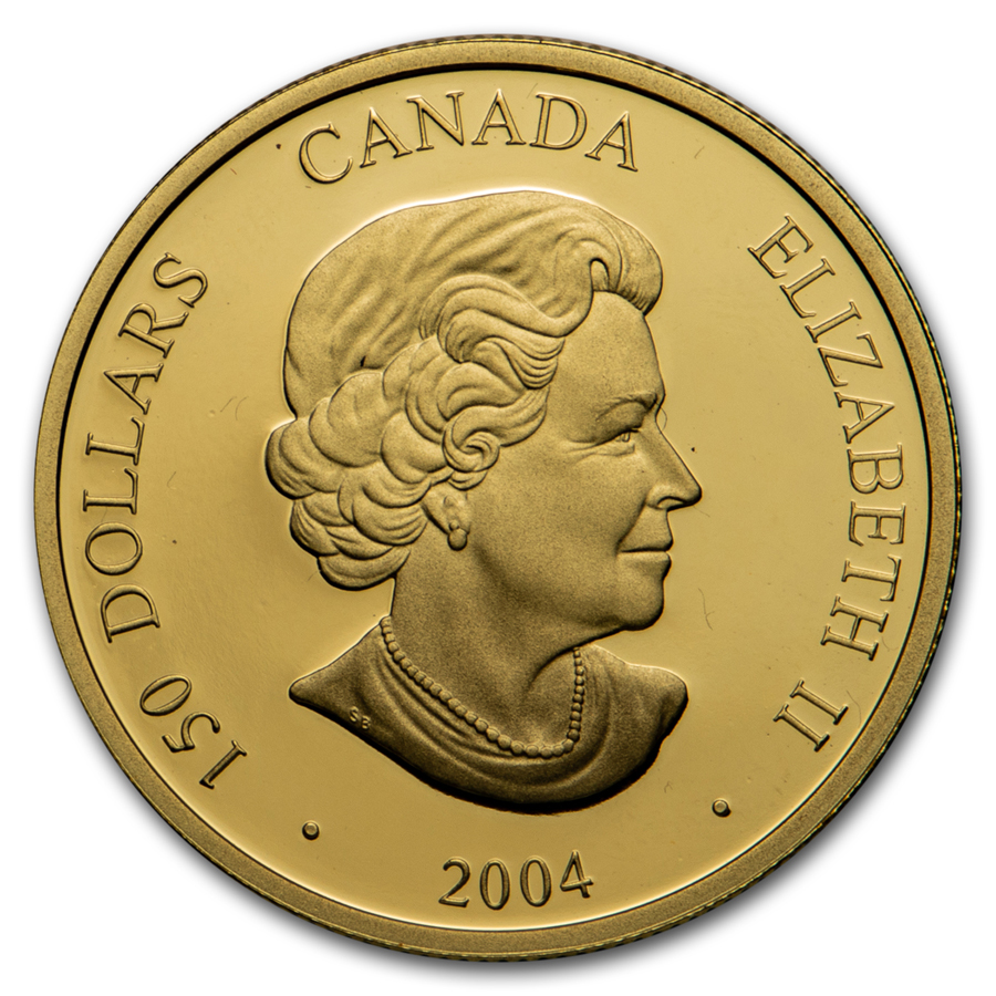 2004 Canada Gold $150 Monkey (Hologram w/Box & COA)