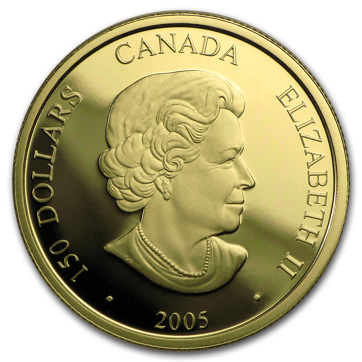 2005 Canada Gold $150 Lunar Year of the Rooster (Hologram)