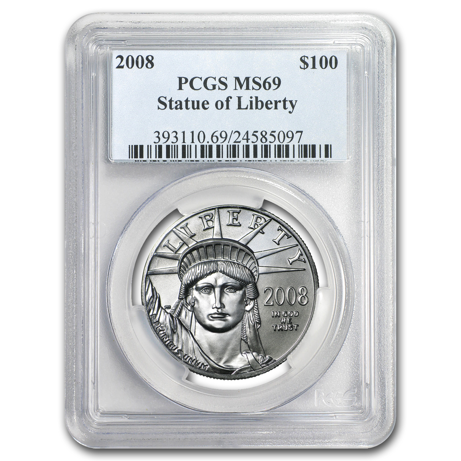 2008 1 oz Platinum American Eagle MS-69 PCGS