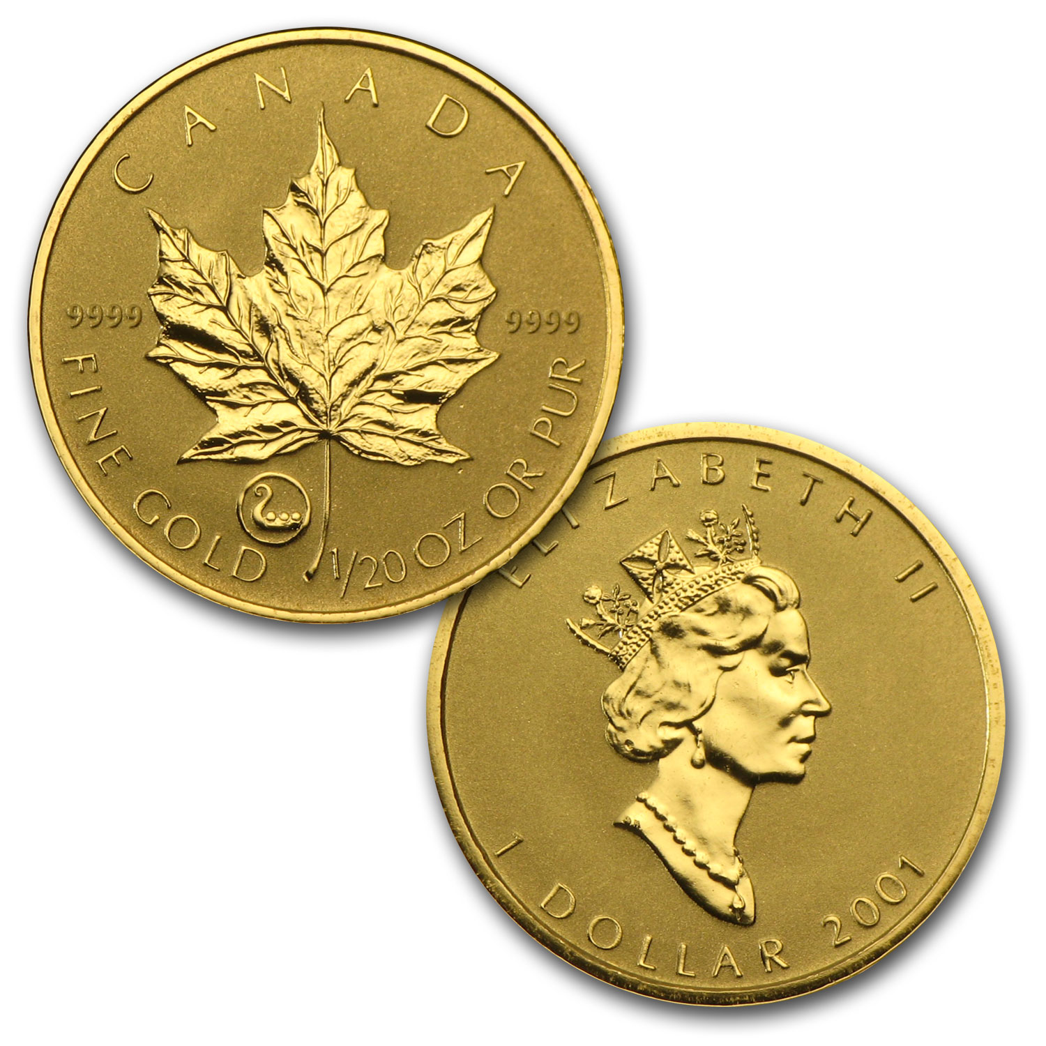 2001 Canada 5-Coin Gold Maple Leaf Viking Heritage Set