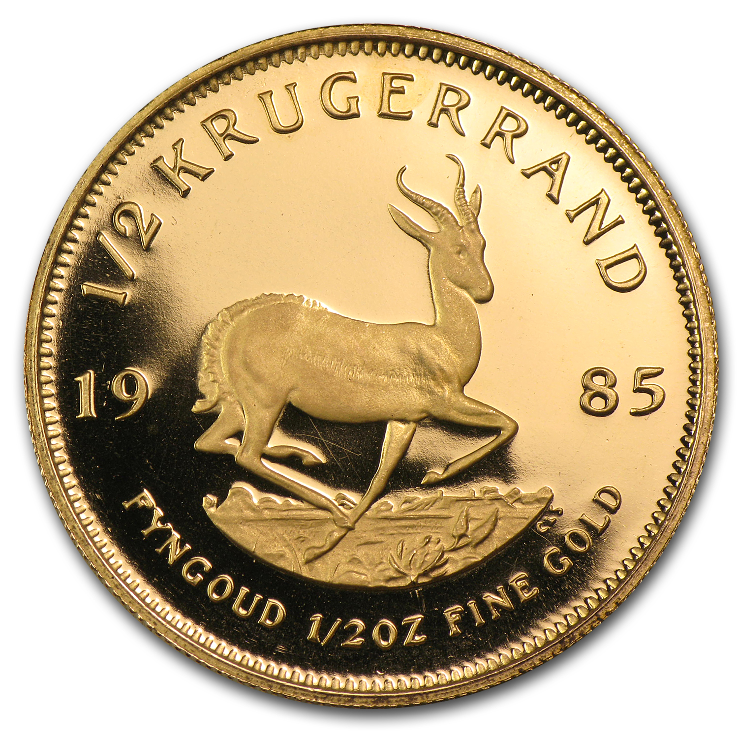 1985 South Africa 1/2 oz Proof Gold Krugerrand