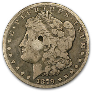 1879-CC Morgan Dollar Clear CC VG Details (Damaged)