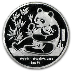 1987 China 1 oz Prf Platinum Sino-American Panda (Out of Plastic)
