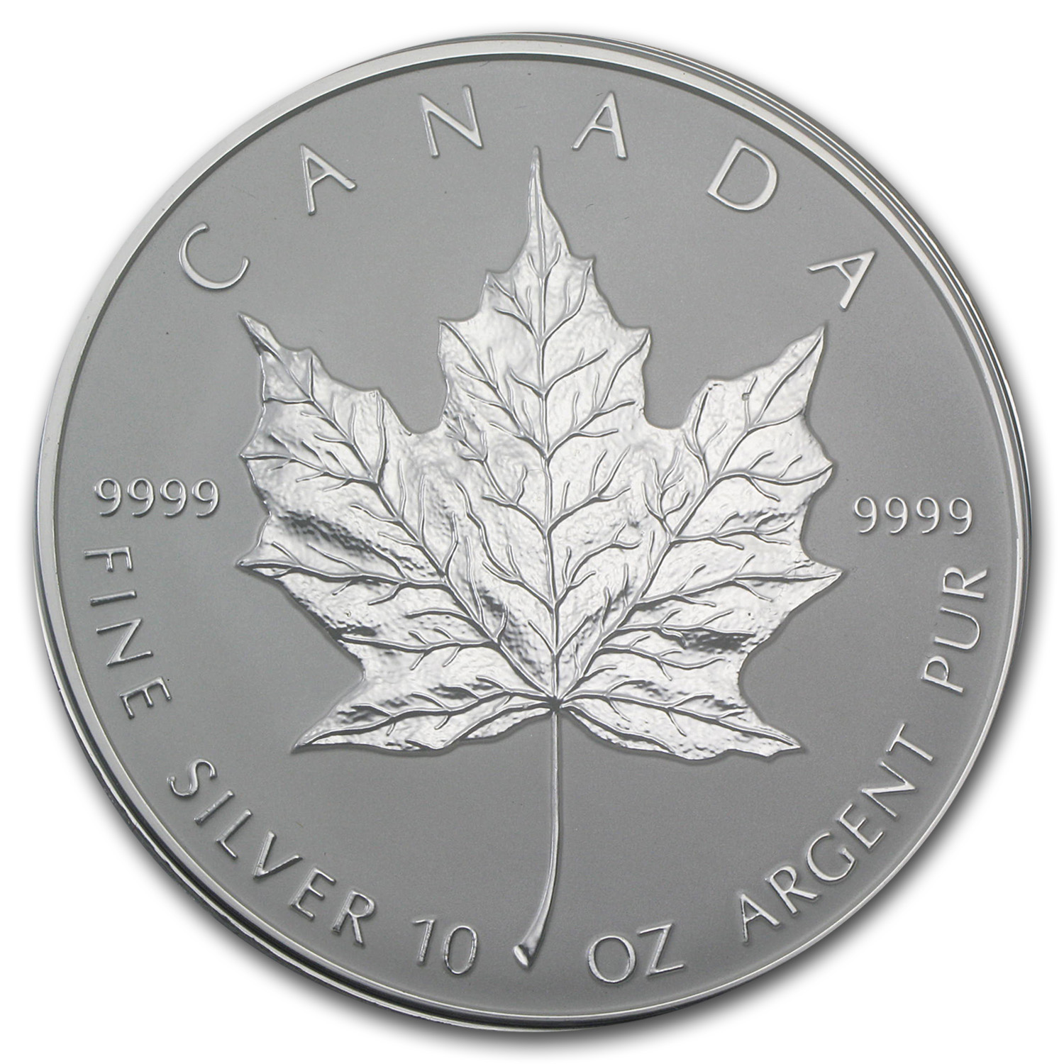 1998 10 oz Silver Canadian $50 Maple Leaf (10th Anniversary)