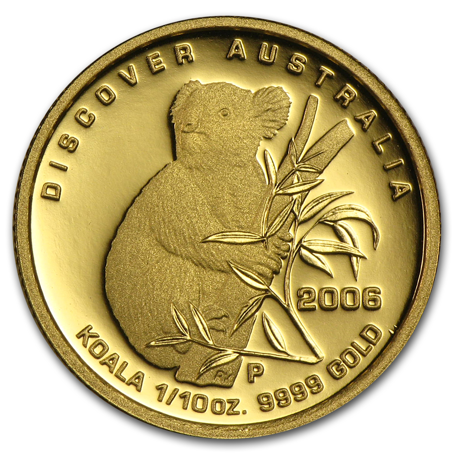 2006 1/10 oz Proof Gold Discover Australia Koala