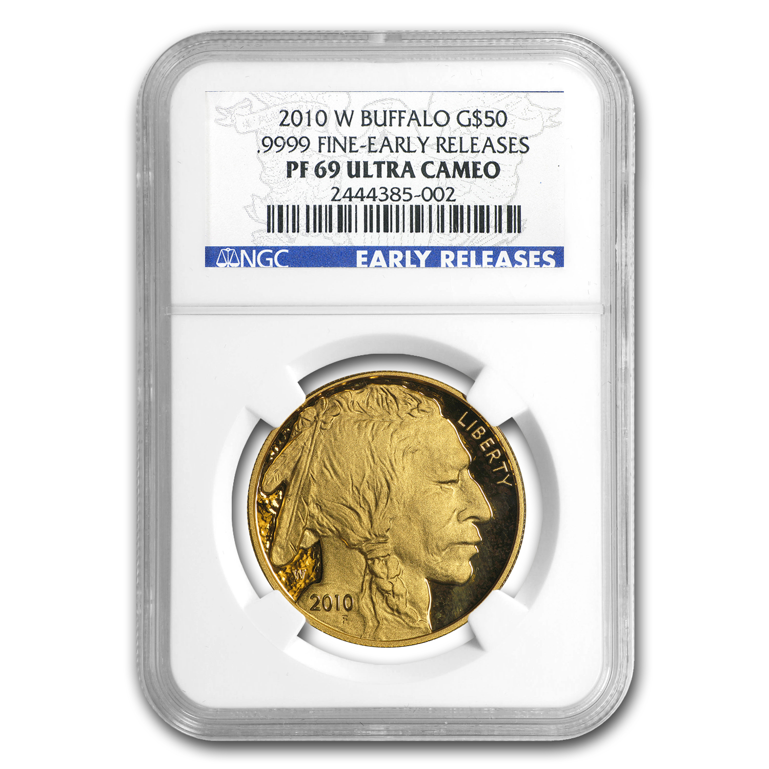 2010-W 1 oz Proof Gold Buffalo PF-69 NGC (ER)