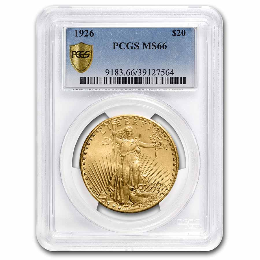 1926 $20 St. Gaudens Gold Double Eagle - MS-66 PCGS