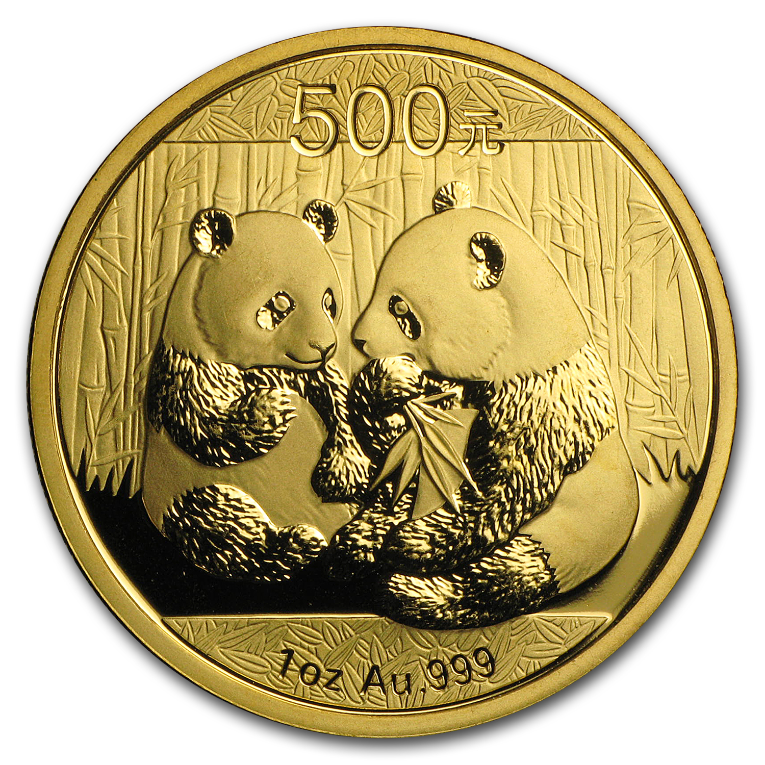 2009 China 1 oz Gold Panda BU (Not Sealed)