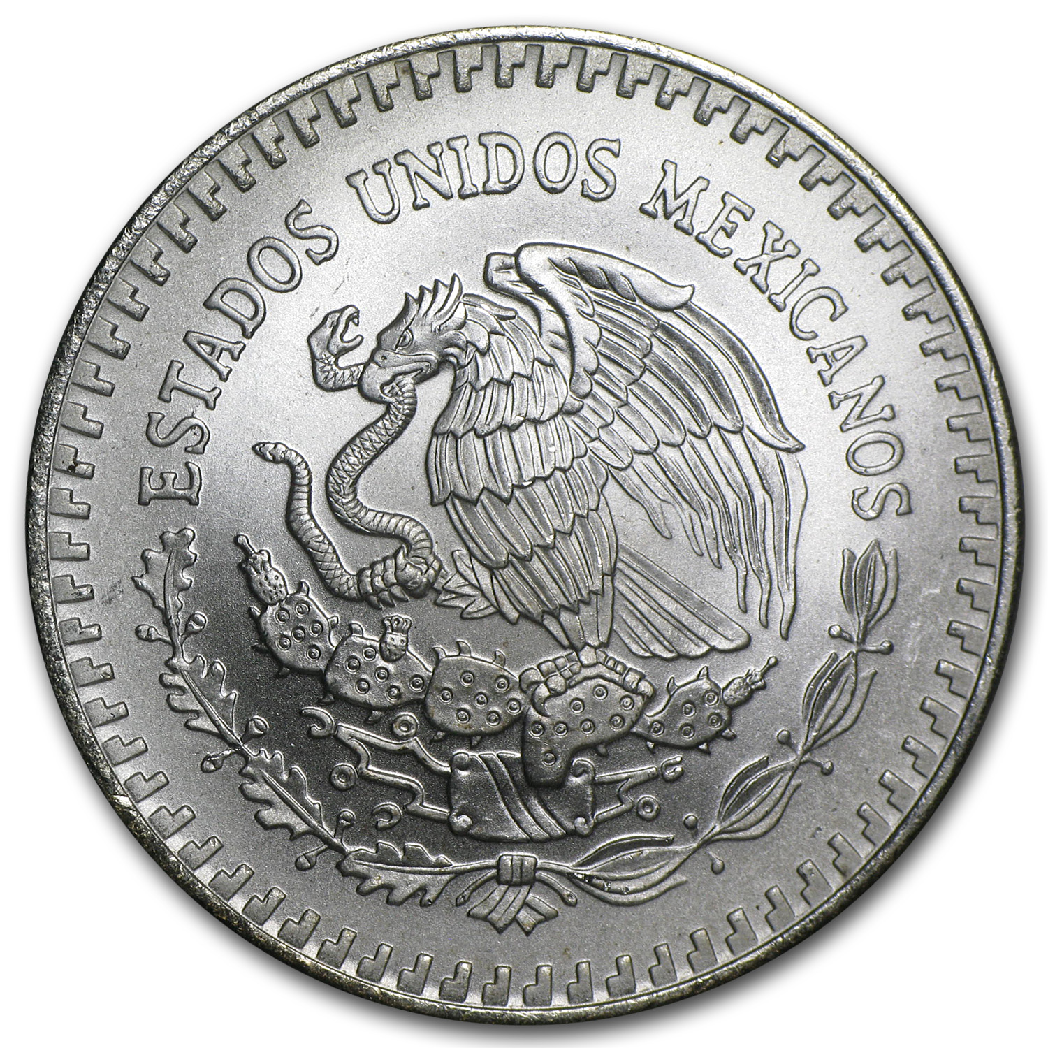 1991 1 oz Silver Mexican Libertad (Brilliant Uncirculated) Type 2