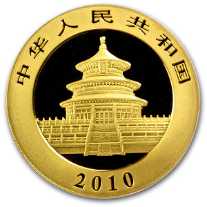 2010 China 1/20 oz Gold Panda MS-69 PCGS