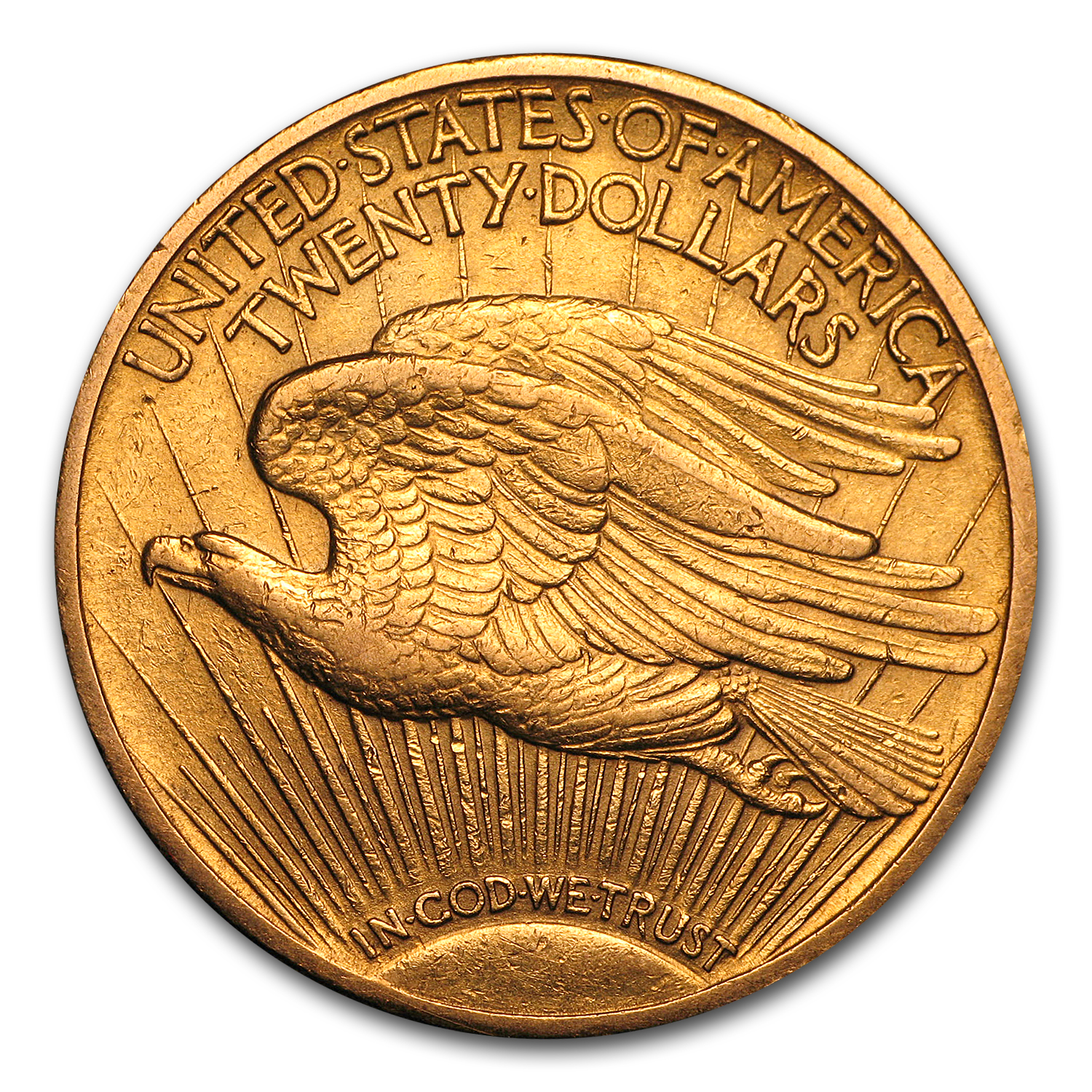 1909/8 $20 St. Gaudens Gold Double Eagle - AU