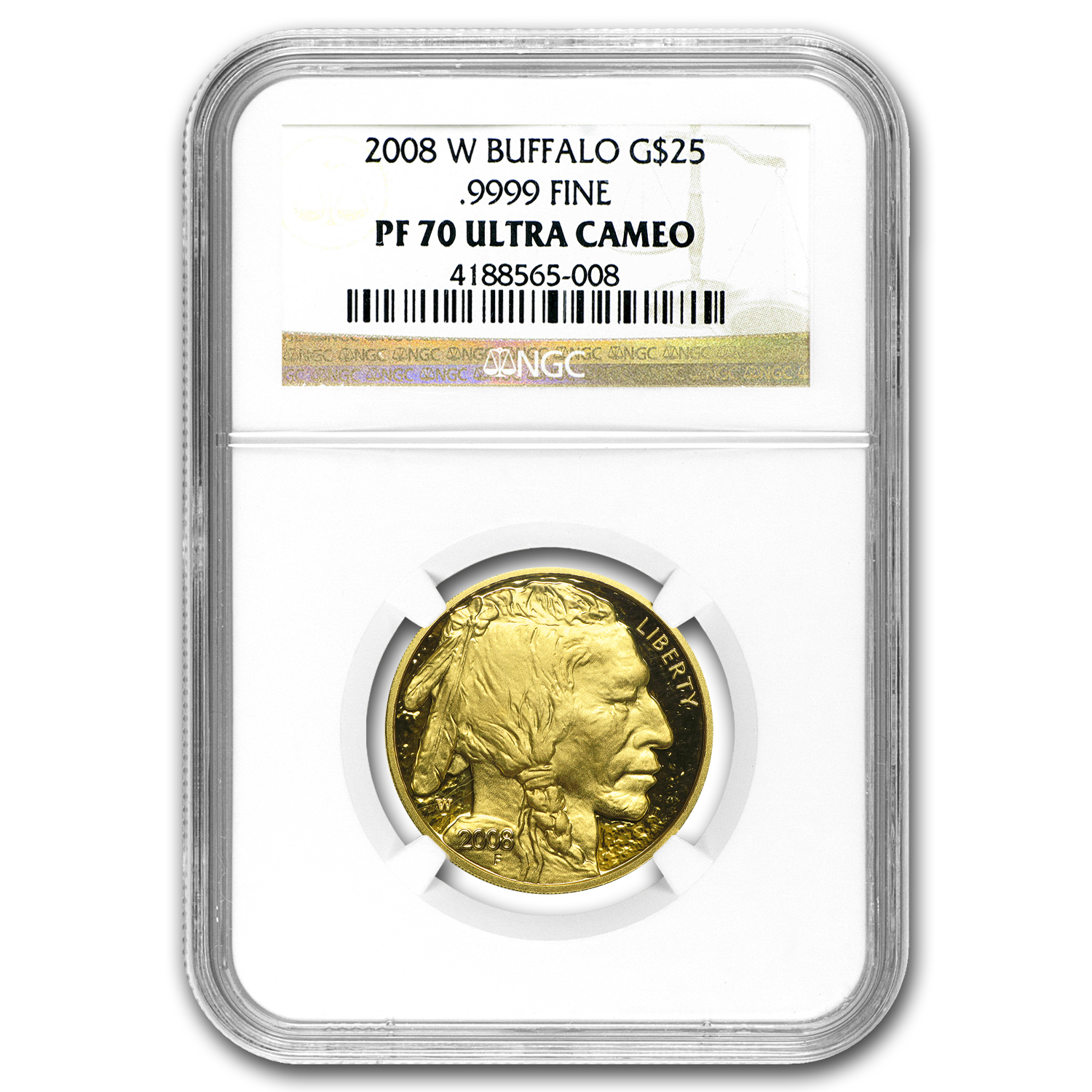 2008-W 1/2 oz Proof Gold Buffalo PF-70 NGC
