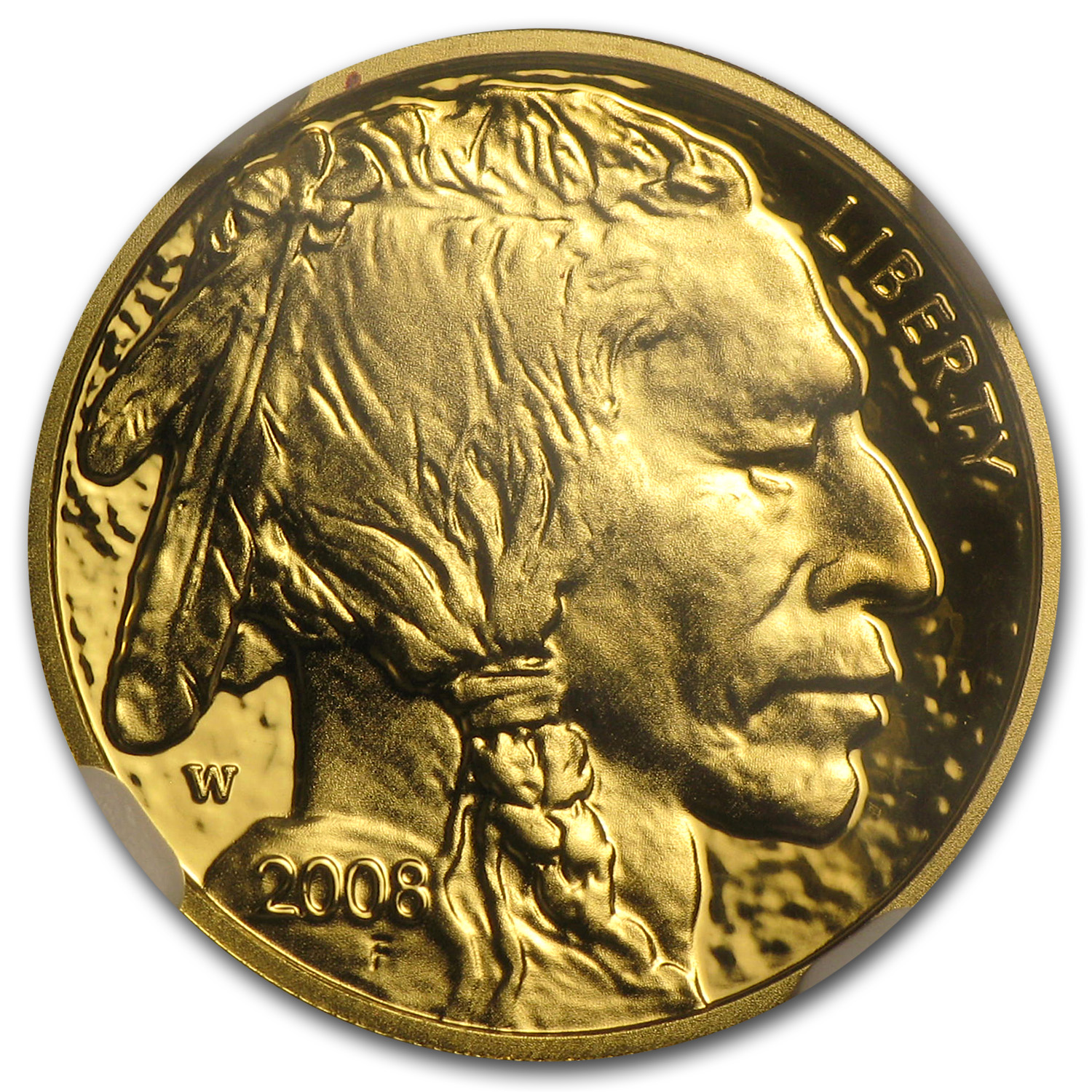 2008-W 1/10 oz Gold Buffalo PF-70 NGC
