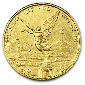 2010 Mexico 1/20 oz Gold Libertad BU