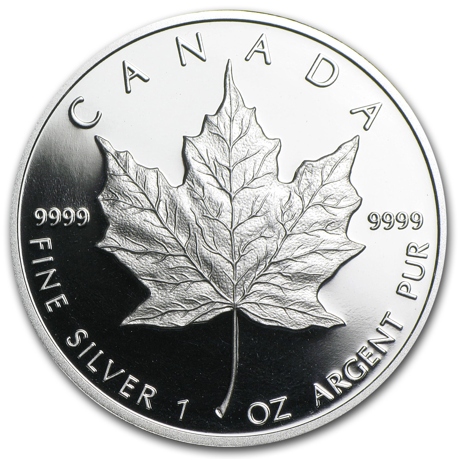 1989 1 oz Proof Silver Canadian Maple Leaf (W/Box & CoA)