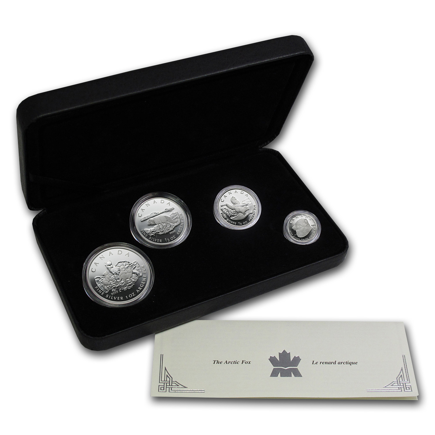 2004 4-Coin Silver Canadian Arctic Fox Proof Set (w/Box & COA)
