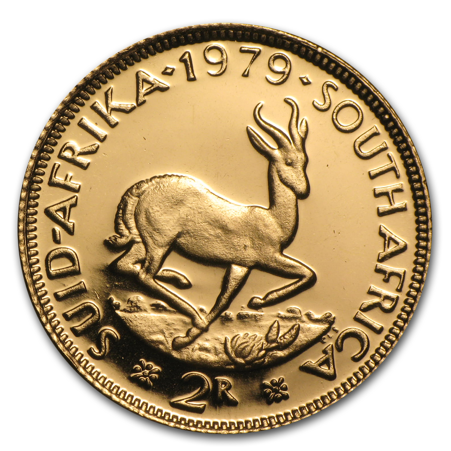 South Africa Proof Gold 2 Rand