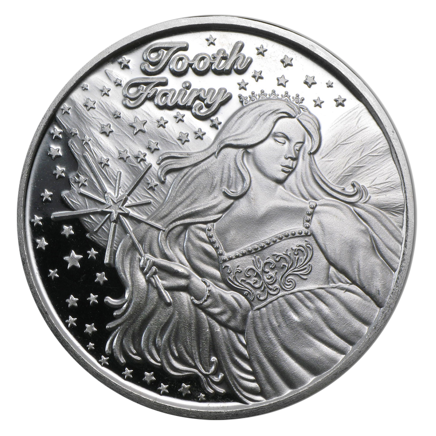 1 oz Silver Round - Tooth Fairy (Box & Capsule)
