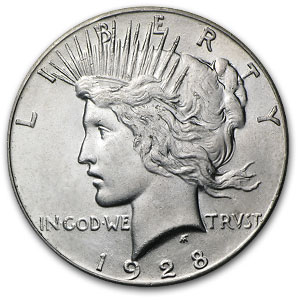 1928 Peace Dollar MS-62