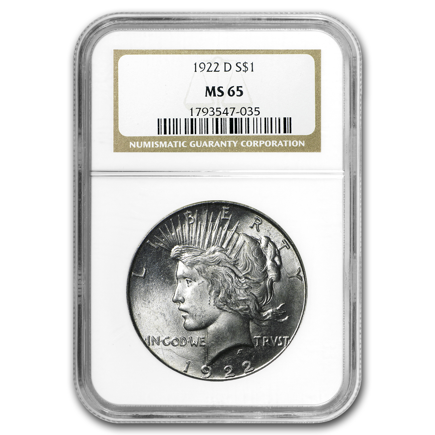 1922-D Peace Dollar MS-65 NGC