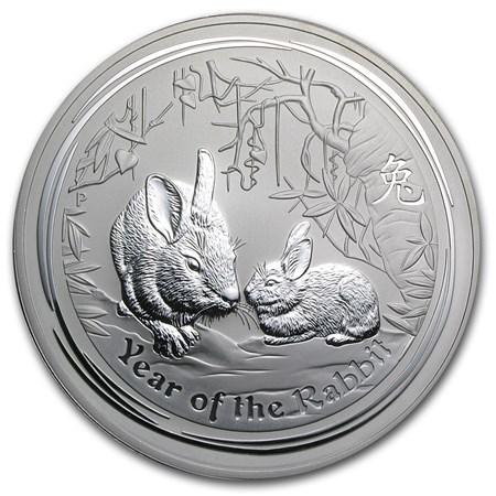 2011 Australia 1 Kilo Silver Year Of The Rabbit Bu Perth