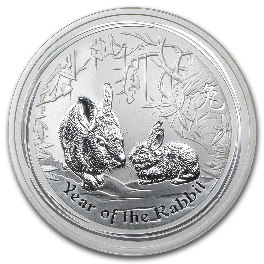 2011 Australia 5 Oz Silver Year Of The Rabbit Bu Perth