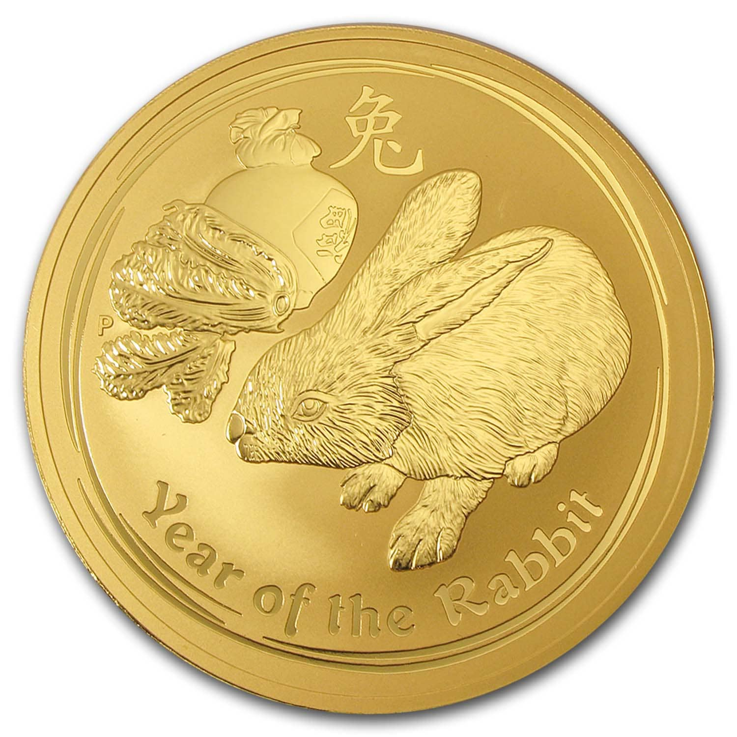 2011 Gold 1 kilo  Lunar Year of the Rabbit BU (Series II)