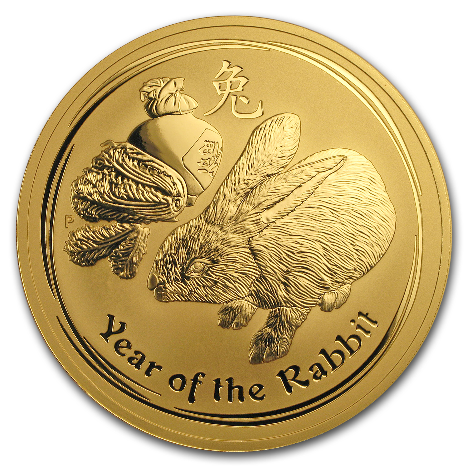 2011 10 oz Gold Lunar Year of the Rabbit BU (Series II)