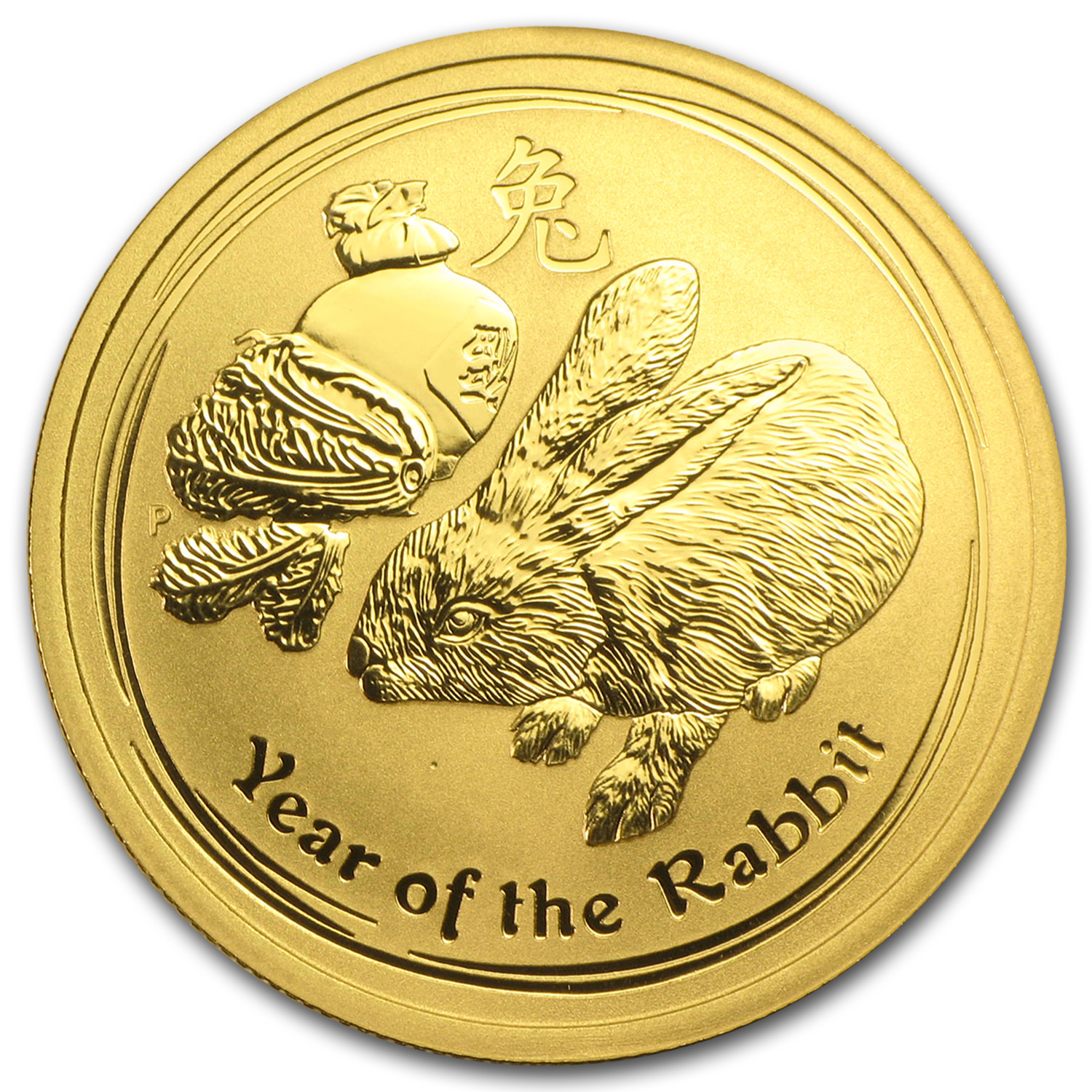 2011 1/2 oz Gold Lunar Year of the Rabbit BU (Series II)