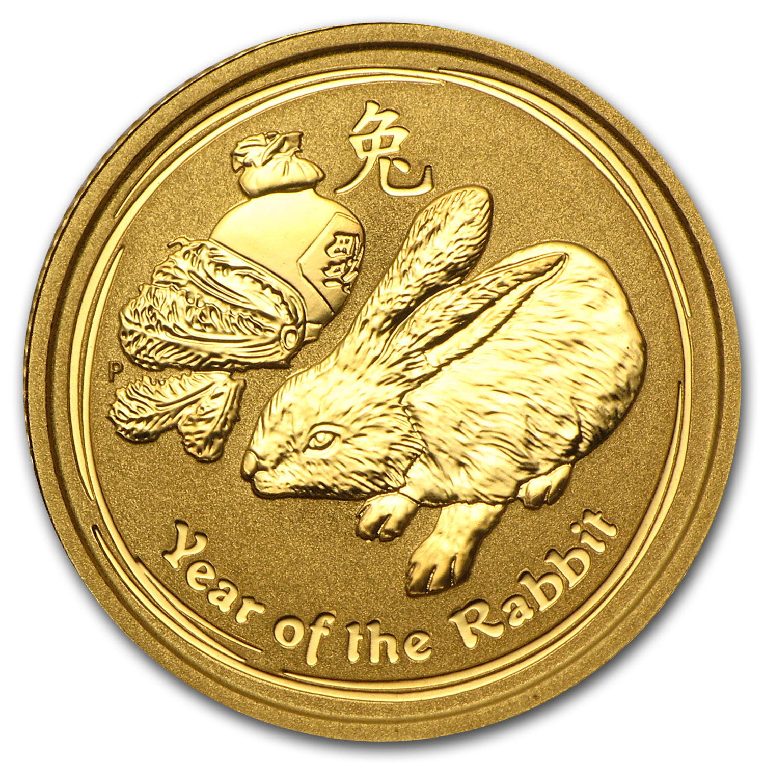 2011 1/10 oz Gold Lunar Year of the Rabbit BU (Series II)