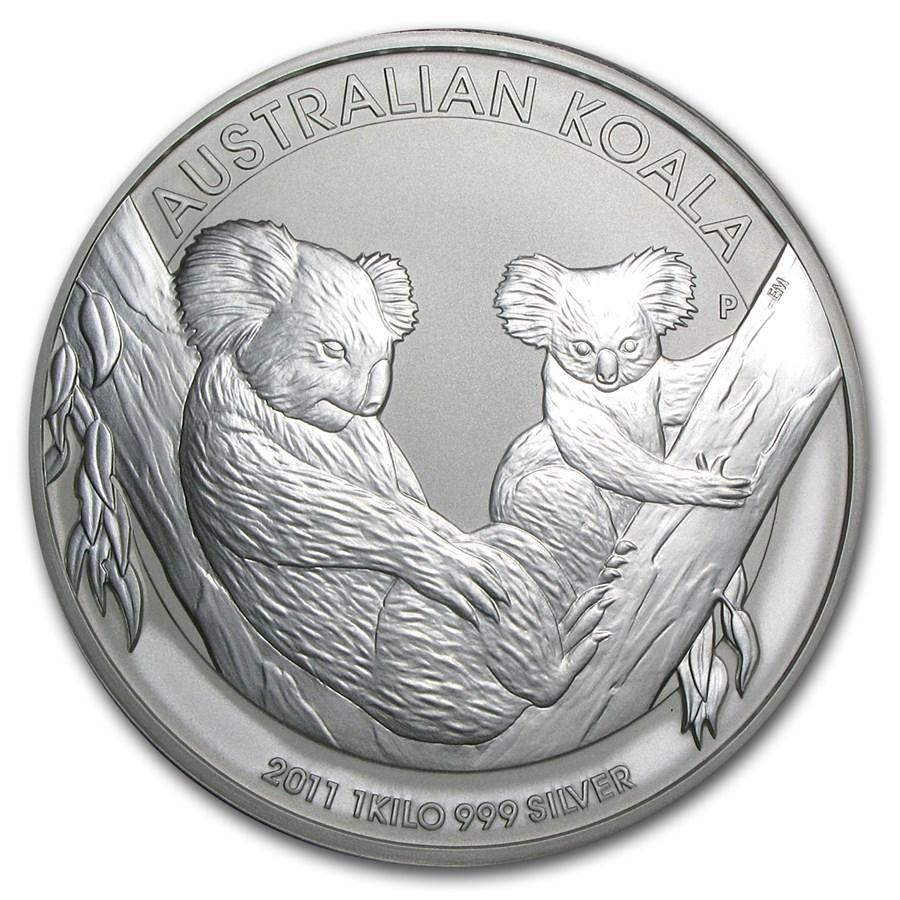 2011 Australia 1 Kilo Silver Koala Bu Perth Mint Koala