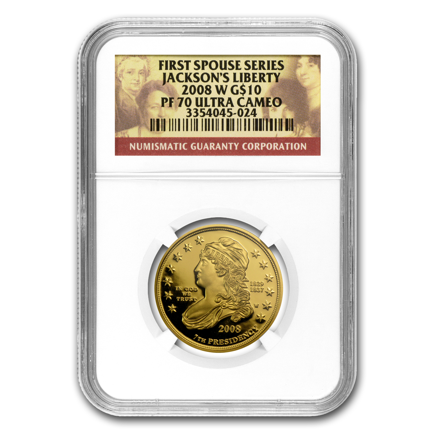 2008-W 1/2 oz Proof Gold Jackson's Liberty PF-70 NGC UCAM