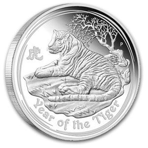 2010 Year of the Tiger 1 oz Silver Coin (Series II) PCGS MS-70