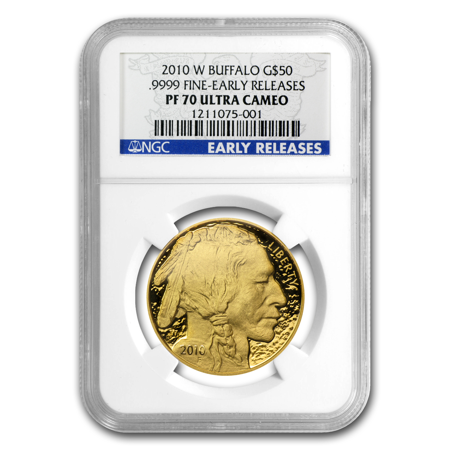 2010-W 1 oz Proof Gold Buffalo PF-70 NGC (ER)