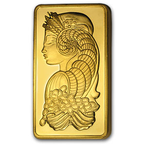 5 oz Gold Bar - Pamp Suisse Fortuna (w/out Assay)