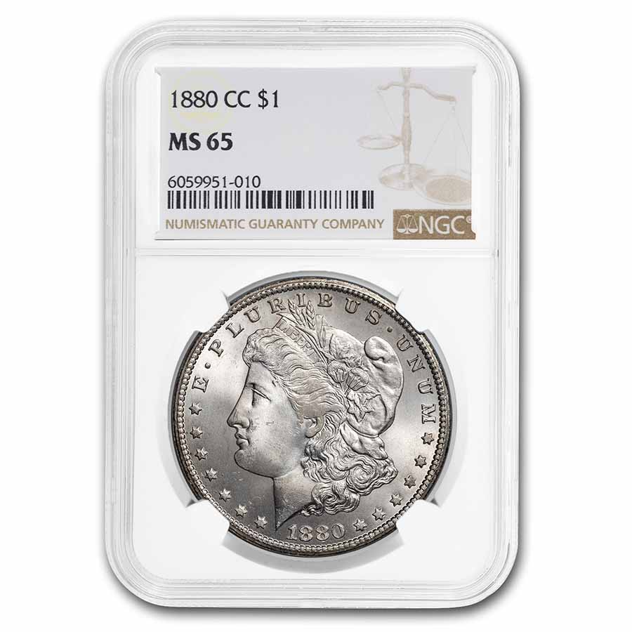 1880-CC Morgan Dollar MS-65 NGC