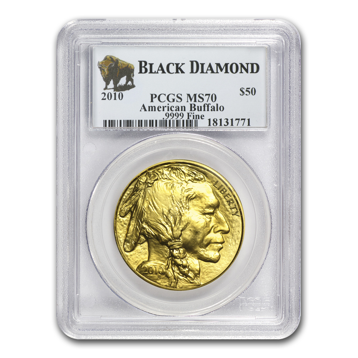 2010 1 oz Gold Buffalo MS-70 PCGS (Black Diamond)