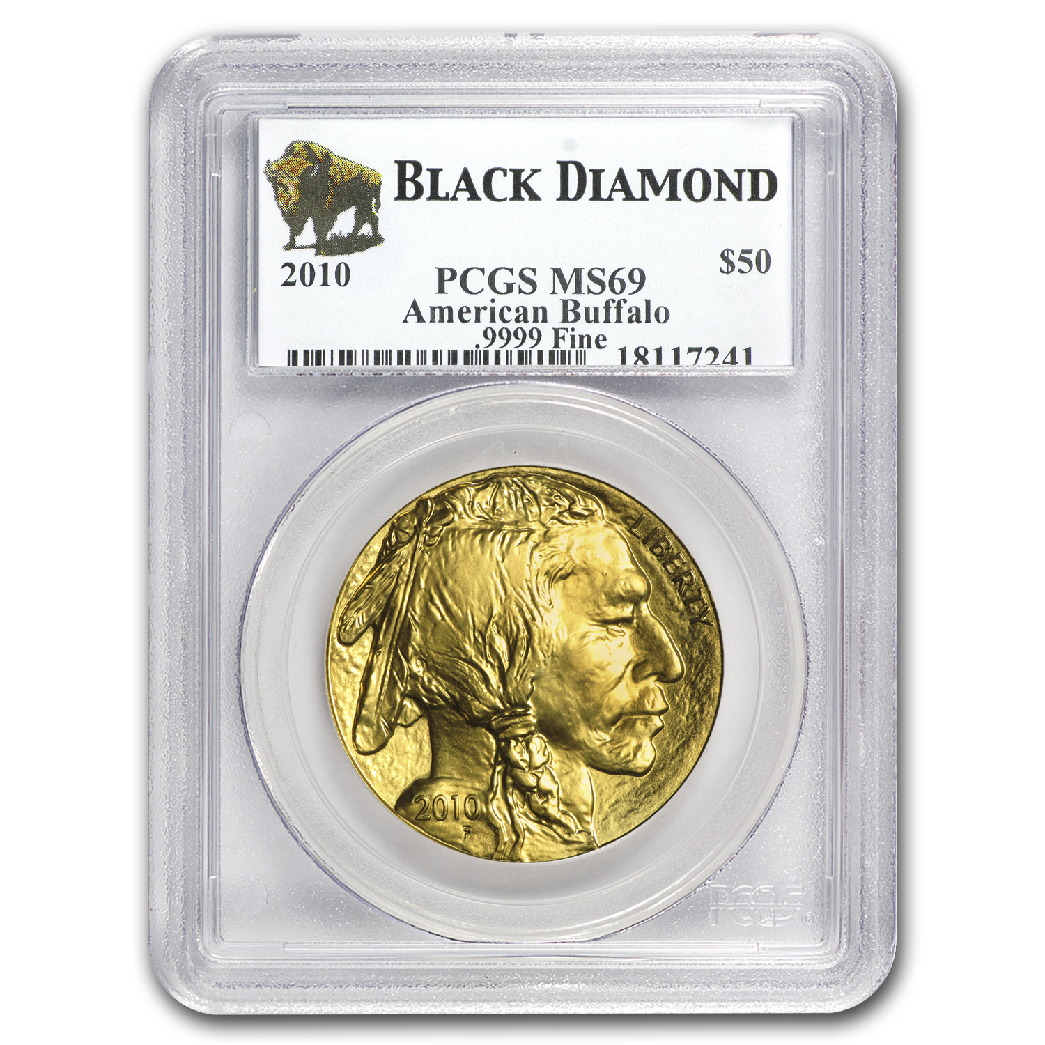 2010 1 oz Gold Buffalo MS-69 PCGS (Black Diamond)