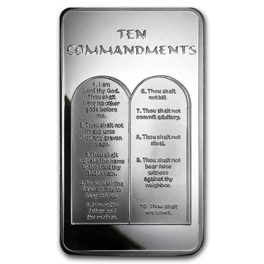10 Oz Silver Bar Ten Commandments 10 Oz Silver Bars
