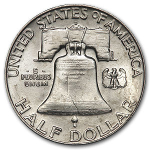 90% Silver Franklin Half-Dollars $100 Face-Value Bag BU